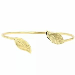 Bracelet jonc lariat or