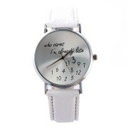 Montre who cares blanche