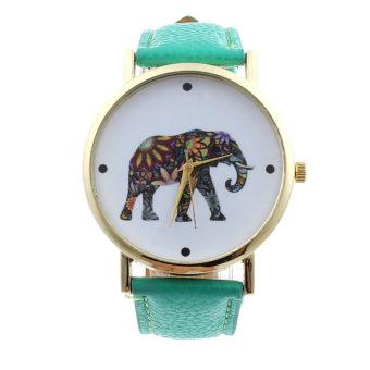 Montre-elephant-turquoise-femme