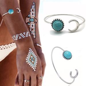 Bracelet lune turquoise 2017