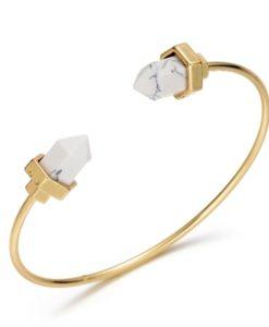 bracelet geometrique blanc 2018.Idées cadeaux bijoux femme
