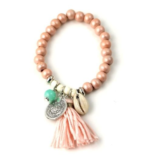 Bracelet boheme rose