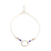 Bracelet cercle argent- idee cadeau