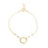 Bracelet cercle or perles