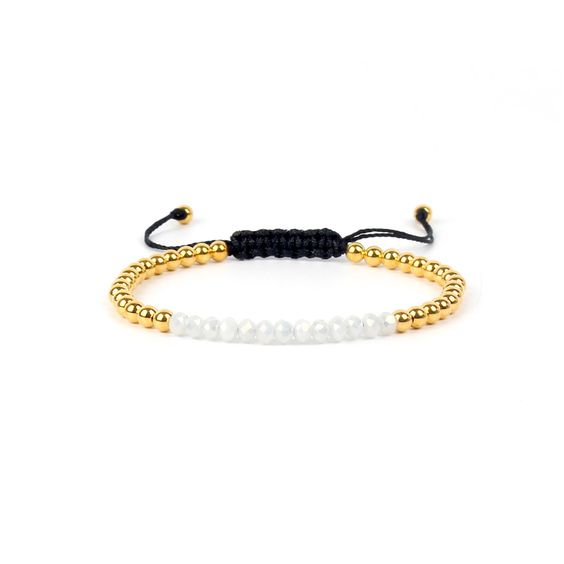 Bracelet cordon Swarovski blanc