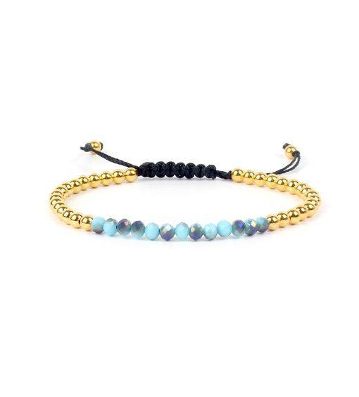 Bracelet cordon Swarovski bleu