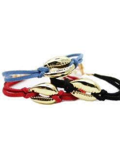 Bracelet femme cuir noir