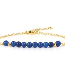 Bracelet jade bleu