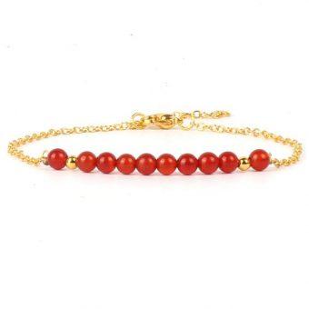 Bracelet jade rouge