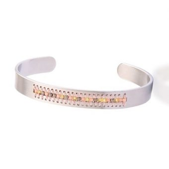 Bracelet jonc argent – cadeau romantique 1