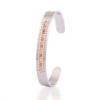 Bracelet jonc argent - cadeau romantique