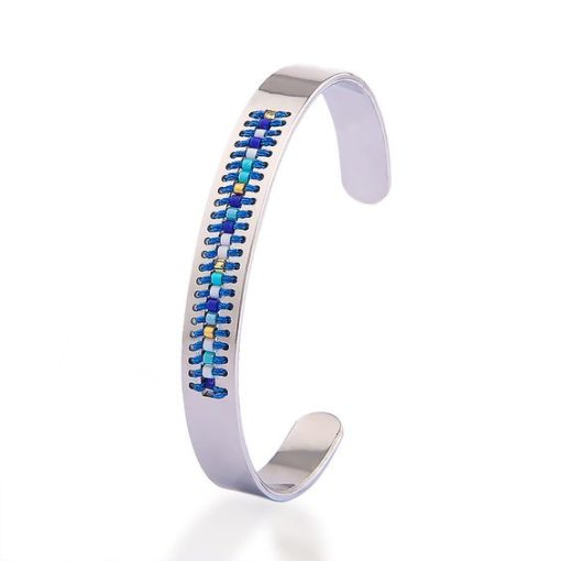 Bracelet jonc argent - femme