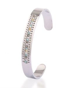 Bracelet jonc argent - fille