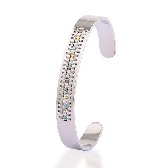 bracelet jonc argent fille bijoux fantaisie femme. Black Bedroom Furniture Sets. Home Design Ideas