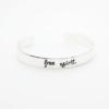 Bracelet jonc porte bonheur argent femme