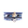 Bracelet multi-tours bleu