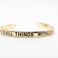 Bracelet porte bohneur or