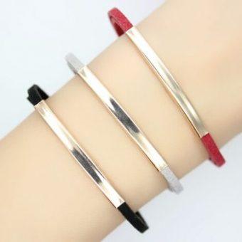 Bracelet tendance femme cuir