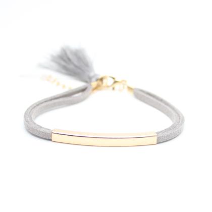 Bracelet tendance femme gris