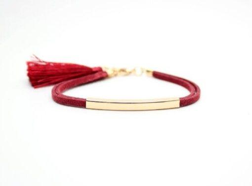 Bracelet tendance femme rouge
