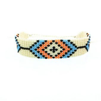 Bracelet tendance perles orange