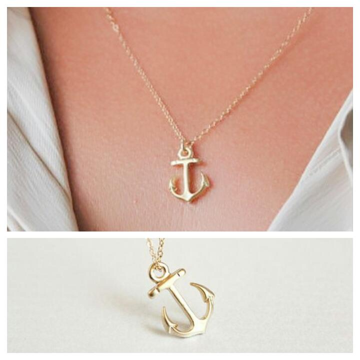 Collier ancre marine or
