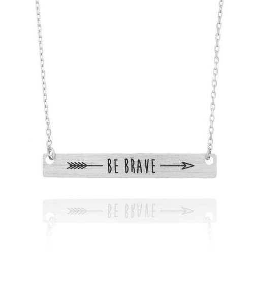 Collier be brave argent