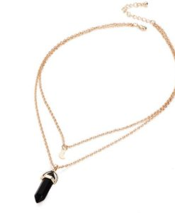 Collier multi rangs noir