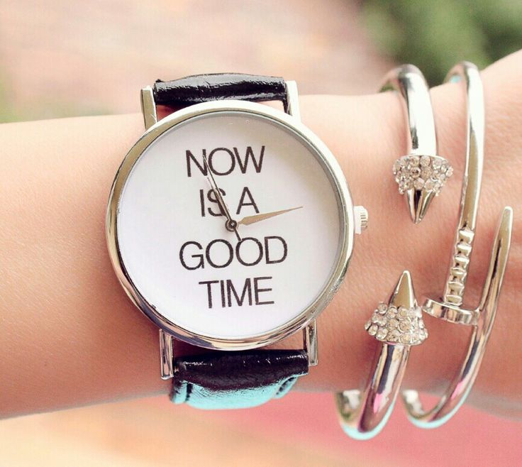 Montre fantaisie now is good time