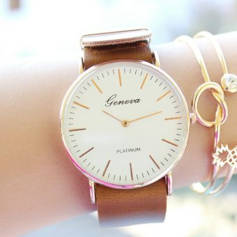 Montre tendance or rose