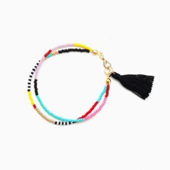 bracelet multicolore pompon
