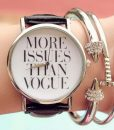 Montre cuir vogue