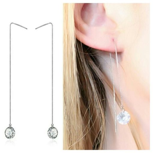 Boucles d'oreilles zirconium tendance