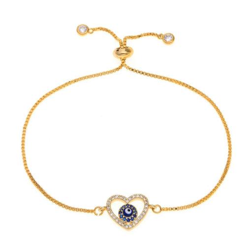 Bracelet mariage coeur bleu