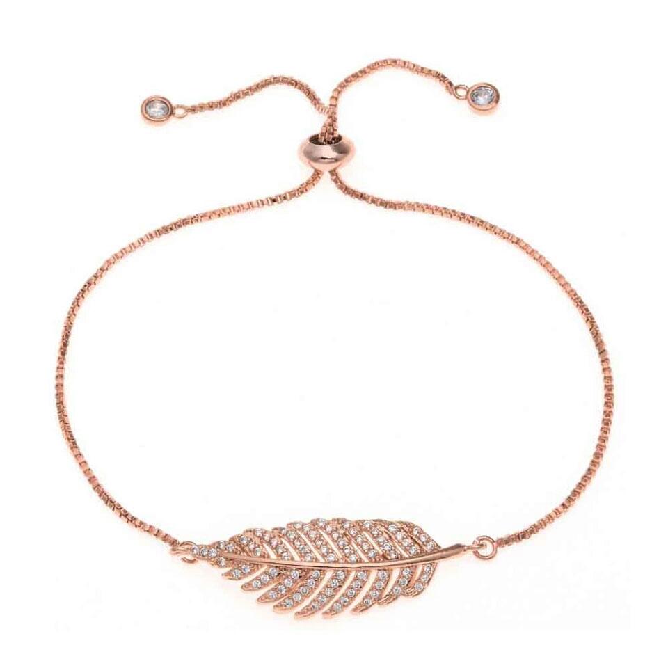 Bracelet mariage feuille Swarovski 2018