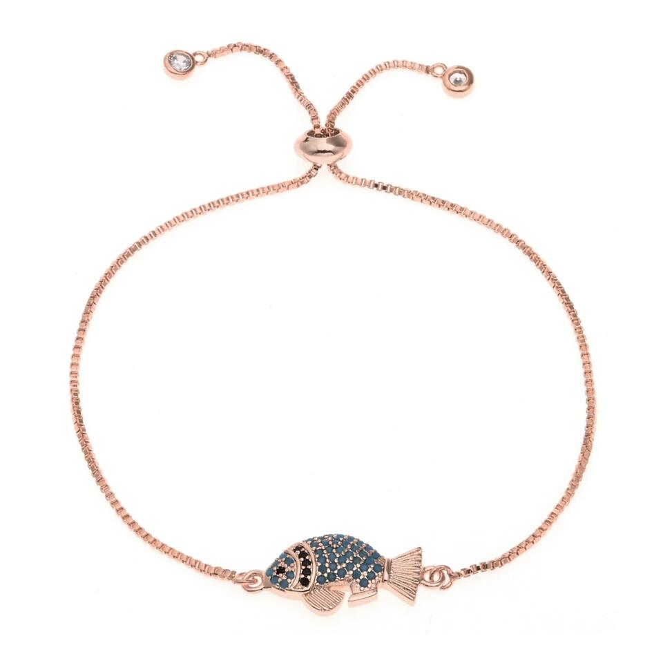 Bracelet mariage original or rose
