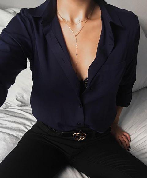Womens Black Shirts