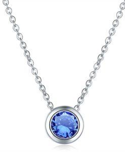 Collier demoiselle d'honneur- bleu klein