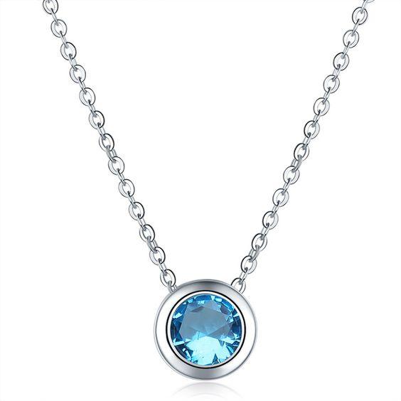 Collier demoiselle d'honneur- bleu