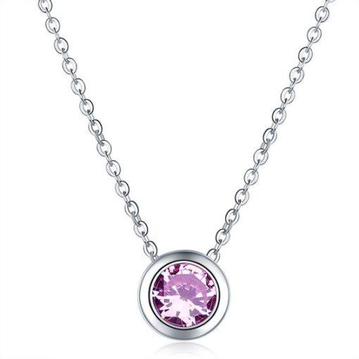 Collier demoiselle d'honneur violet