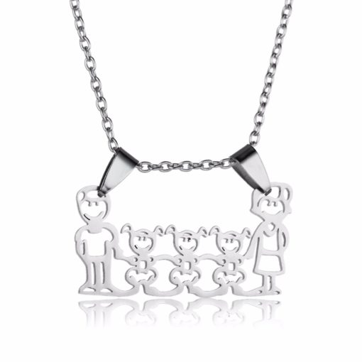 Collier famille- Idee cadeau maman