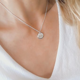 Collier medaille argent tendance 2018