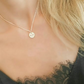 Collier medaille tendance 2018 or rose