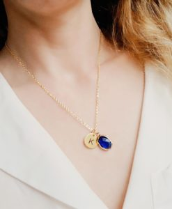 Collier personnalise initiale pas cher