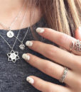 Collier boho chic argent
