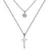 Collier croix argent