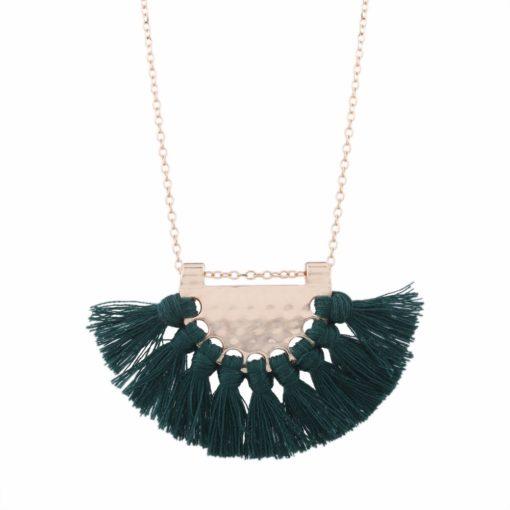 collier pompon vert