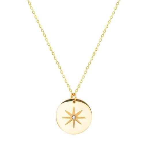 Collier tendance 2020 -collier medaille porte bonheur