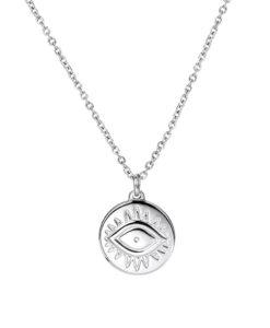 Collier medaille argentee