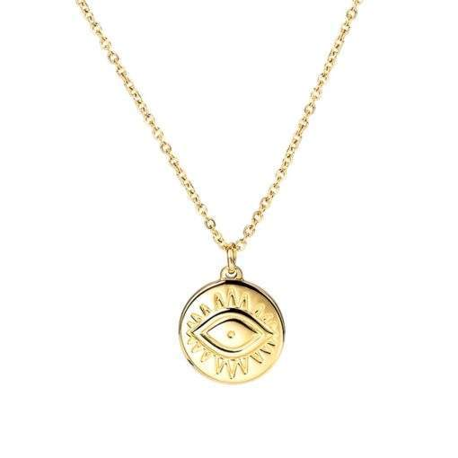 Collier medaille doree